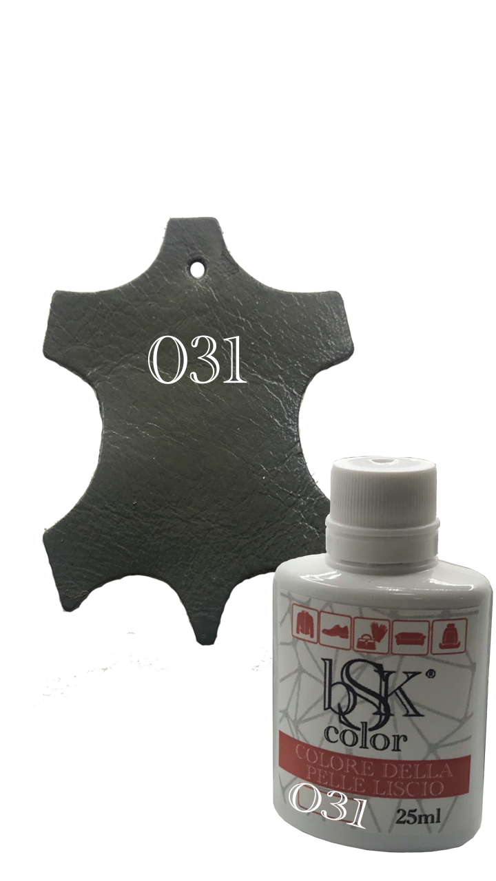 """Краска для гладкой кожи  """"bsk-color"""" 25 мл серый-шифер , цвет №031"""