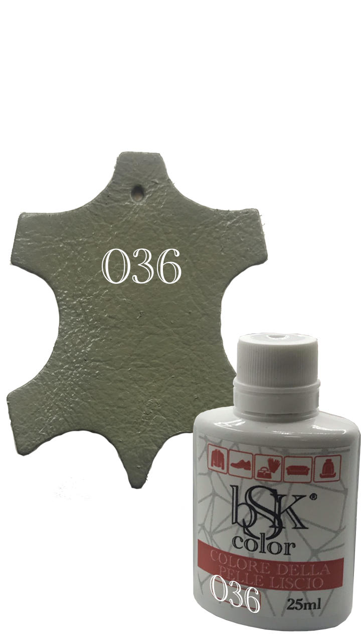 """Краска для гладкой кожи  """"bsk-color"""" 25 мл  , цвет  серый брезент №036"""
