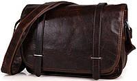 Сумка мужская Vintage 14476 кожаная Коричневая, Коричневый, фото 1