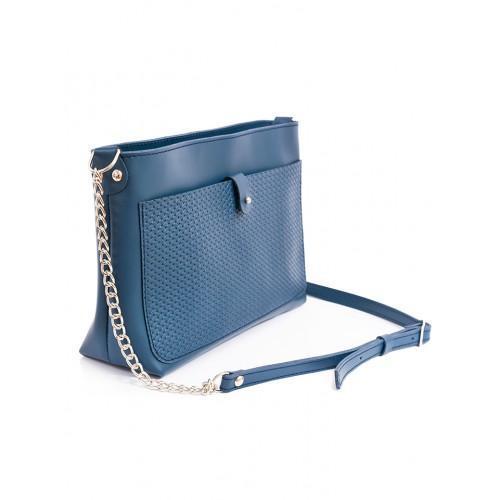 14c102801dd2 Клатч-сумка кожаная синяя женская через плечо: продажа, цена в Ивано ...