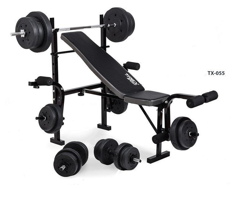Лава для жиму TreX-055 + штанга 60 кг