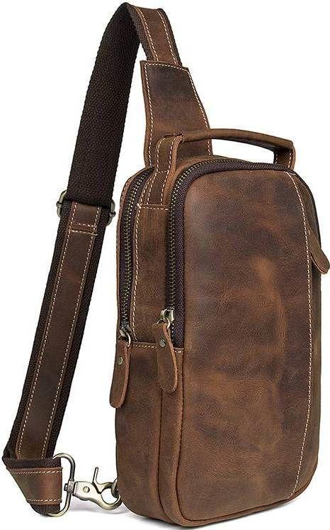 Сумка мужская Vintage 14519 Коричневая, Коричневый