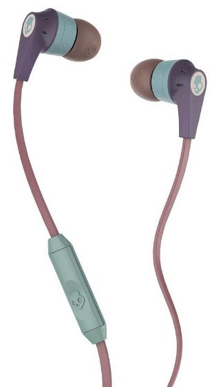Навушники Skullcandy Ink'd Purple/Salmon/Green mic 1