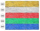 Креп бумага 802 серебро Cartotecnica rossi водоотталкивающая металлизированная, фото 2