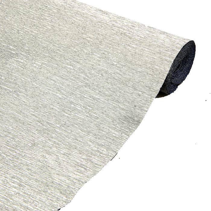 Креп бумага 802 серебро Cartotecnica rossi водоотталкивающая металлизированная
