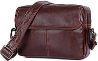 Сумка мужская Vintage 14558 из натуральной кожи Коричневая, Коричневый, фото 1