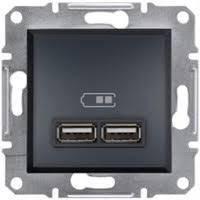 Розетка USB, 2 гнезда (антрацит) ASFORA SCHNEIDER ELECTRIC  EPH2700271
