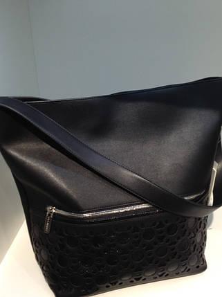 Женская сумка из эко кожи черная 181444, фото 2