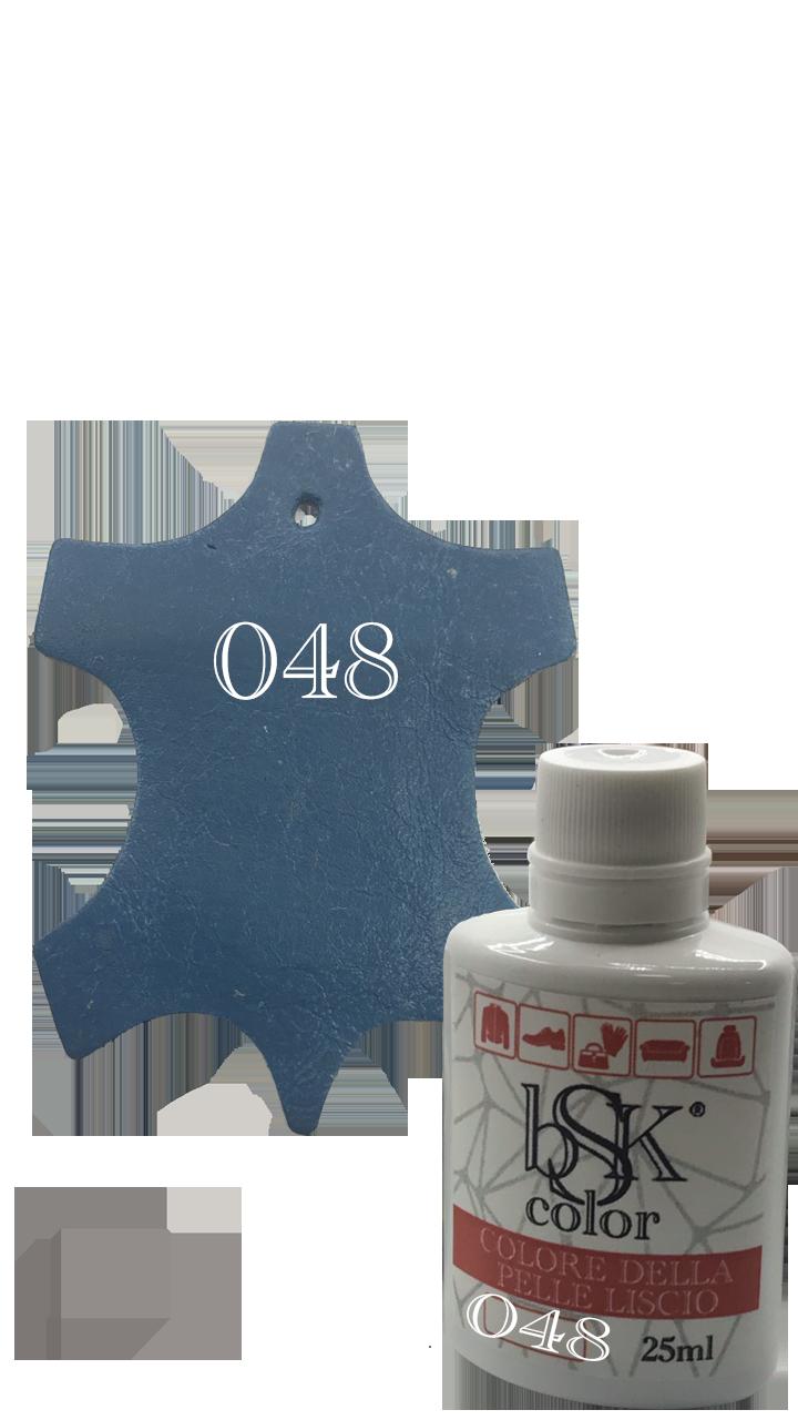 """Краска для гладкой кожи  """"bsk-color"""" 25ml  , цвет морской волны №048"""
