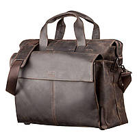 Дорожная сумка SHVIGEL 11119 кожаная Коричневая, Коричневый, фото 1