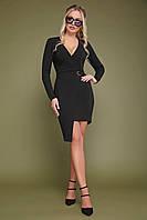 Черное асимметричное платье, фото 1