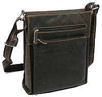 Мужская сумка из натуральной кожи GREENWOOD S191031 коричневая