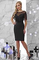 Нарядное черное платье с бахромой, фото 1