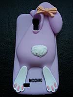 Фиолетовый зайчик Samsung S4 чехол Moschino