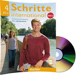Немецкий язык / Schritte international Neu / Kursbuch+Arbeitsbuch+CD. Учебник+Тетрадь с диском, A2.2 / Hueber