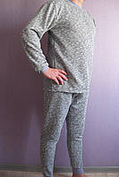 Комплект мужской теплый серый меланж