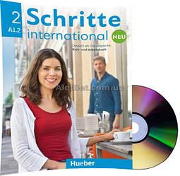 Немецкий язык / Schritte international Neu / Kursbuch+Arbeitsbuch+CD. Учебник+Тетрадь с диском, A1.2 / Hueber