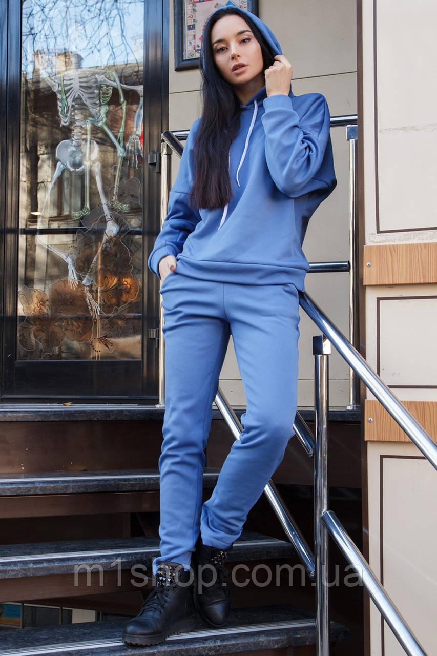 Женский теплый спортивный костюм из трехнитки на меху с капюшоном (Марта 2 mrb)