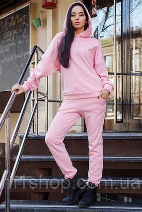 Женский теплый спортивный костюм из трехнитки на меху с капюшоном (Марта 2 mrb), фото 2