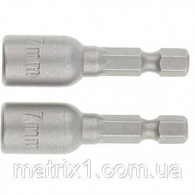 Биты с торцевыми головками 7-45 mm, 2 шт MTX
