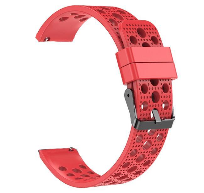Спортивний ремінець з перфорацією для годин Samsung Galaxy Watch 42 mm (SM-R810) - Red