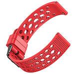 Спортивний ремінець з перфорацією для годин Samsung Galaxy Watch 42 mm (SM-R810) - Red, фото 3