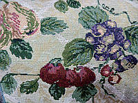 Ткань мебельная декоративная гобелен (150) Цветы/виноград