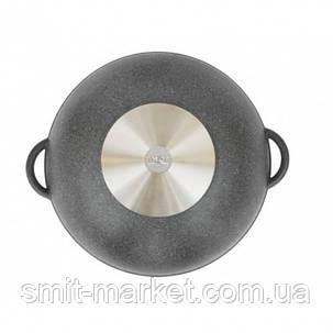 Сковорода антипригарная Вок Биол со стеклянной крышкой (28034ПС), фото 2