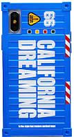 Чехол-накладка Remax California Dreaming Case Apple iPhone X Blue
