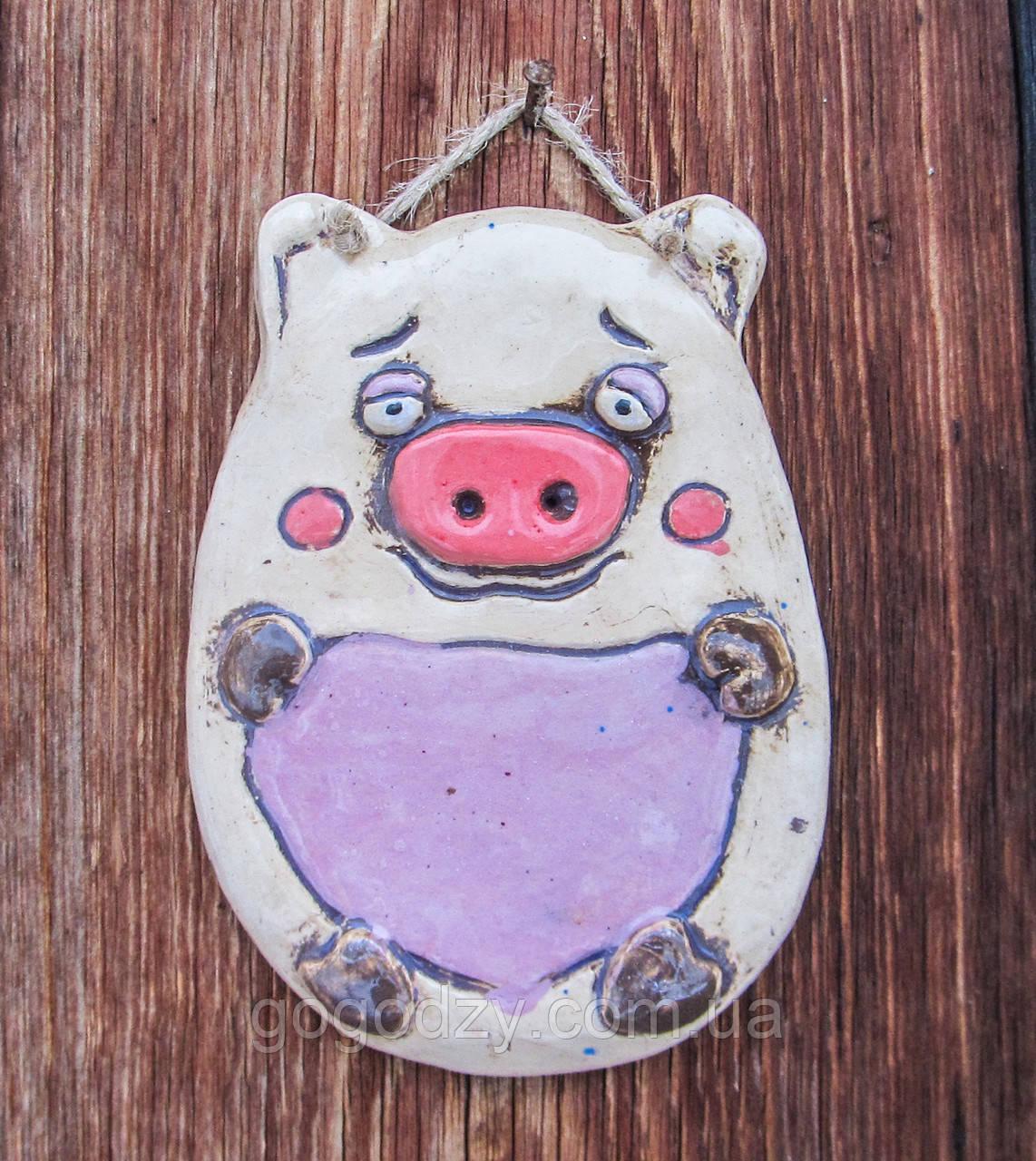 """Плакетка на стіну """"Свин"""""""