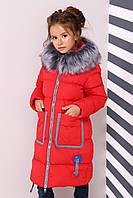 Зимнее пальто для девочки Рейни рост 116 - 158, Коллекция Nui very Распродажа, фото 1