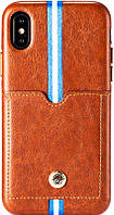 Чехол-накладка Remax Bert Series Case Apple iPhone X Brown, фото 1