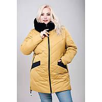 Зимняя куртка «Эля Зима» из материала Memory Touch с 50 по 64 р.