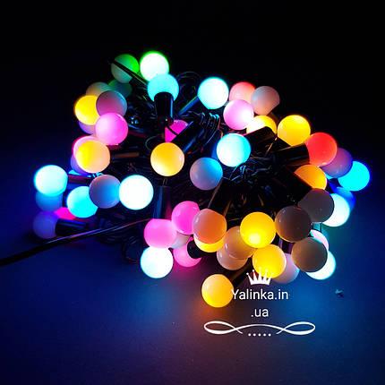 Гирлянда электрическая новогодняя мульти шар 80D RGB  LED , фото 2