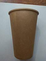 Стакан под кофе 340мл Крафт(коричневий)