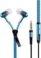 Наушники Zipper Earphones Blue, фото 1