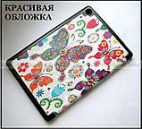 Buttreflies чехол книжка Huawei Mediapad M5 Lite 10 BAH2-L09, цветной чехол TFC Magnet Бабочки, фото 2