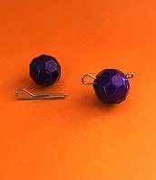 """Граненый фиолетовый груз """"Fishball"""" разборный 10г (в блистере 7 шт.)"""