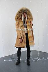 Парка с мехом лисы Gold Fox, размер 44/46