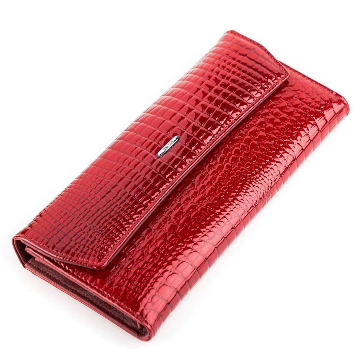 Кошелек женский BALISA 13862 кожаный Красный, Красный