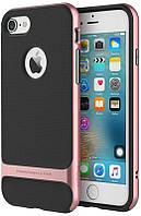 Чехол-накладка Rock TPU+PC Case Royce Series Cross iPhone 5/5S/SE Rose Gold