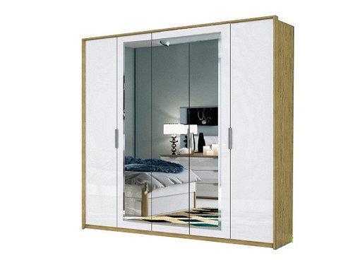 Шкаф Флоренция 5Д с зеркалом Миро-Марк