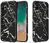 Чехол-накладка Rock Wood+TPU+PET Origin Series Case Apple iPhone X Black