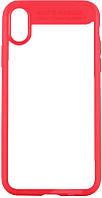 Чехол-накладка Rock TPU+PU Clarity Series Case Apple iPhone X Red, фото 1