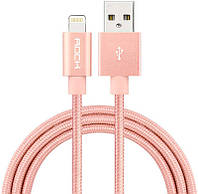 Кабель Rock Charge & Sync round Lightning Cable II 0,3 m Rose Gold