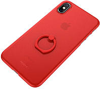 Чехол-накладка Rock Ring Holder PP Protection Case Apple iPhone X Red