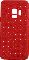 Чехол-накладка Rock TPU Ultrathin Weaving Protective Case Samsung Galaxy S9 G960F Red, фото 1
