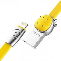 Кабель Rock Chinese Zodiac  lightning cable 1M Ox-Yellow