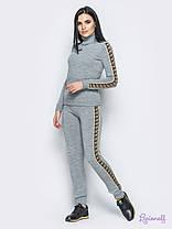 Модный  вязаный спортивный костюм,свитер под горло,размер единый 42-46, фото 3