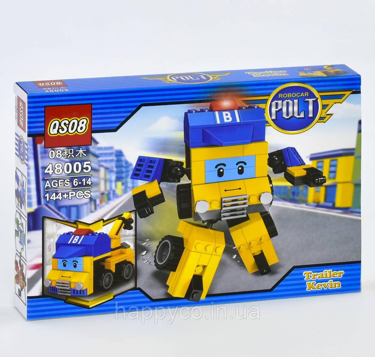Конструктор 2в1 Робокар поли 144 дет, в коробке